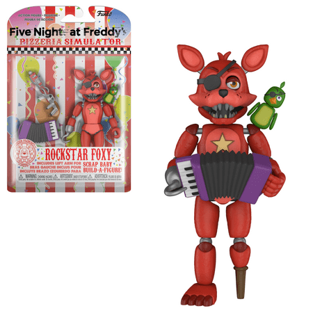 Funko Action Figure: FNAF Pizza Simulator - Rockstar Foxy (Fnaf 4 Halloween Update Trailer)
