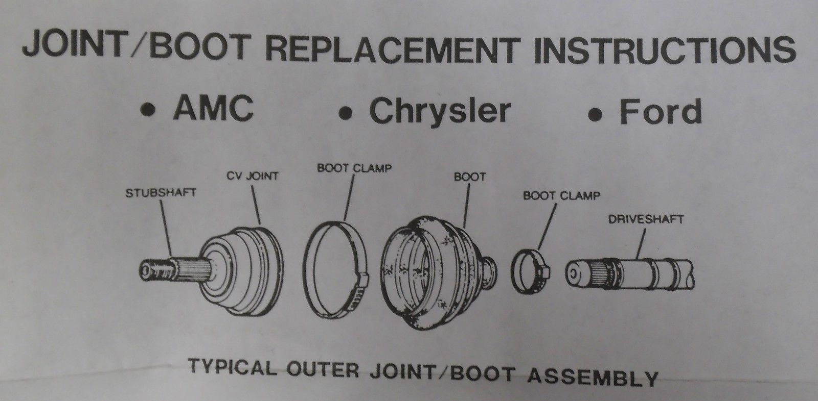 Federal Mogul Trw 22377 Cv Joint Boot Inboard Diagram