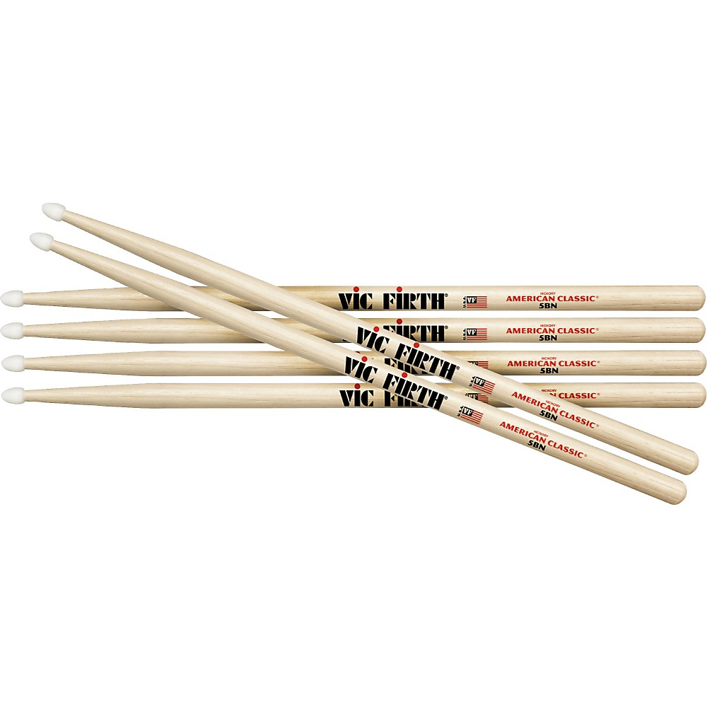 Vic Firth 3-Pair American Classic Hickory Drumsticks Nylon 5B by Vic Firth