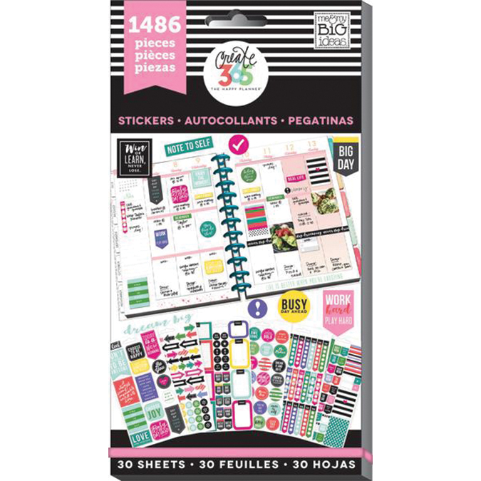 Create 365 Happy Planner Sticker Value Pack-Everyday, 1486/Pkg