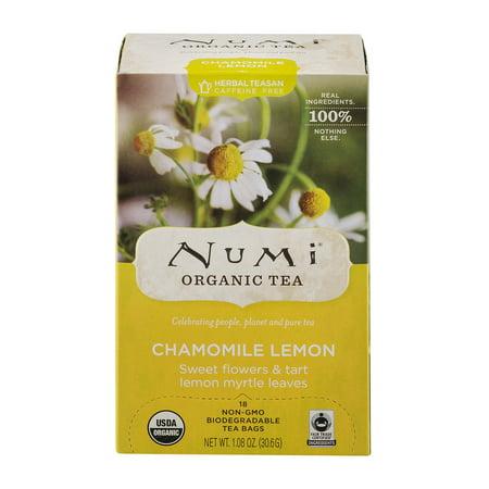 Numi Chamomile Lemon Organic Tea Bags, 18 count, 1.27 oz
