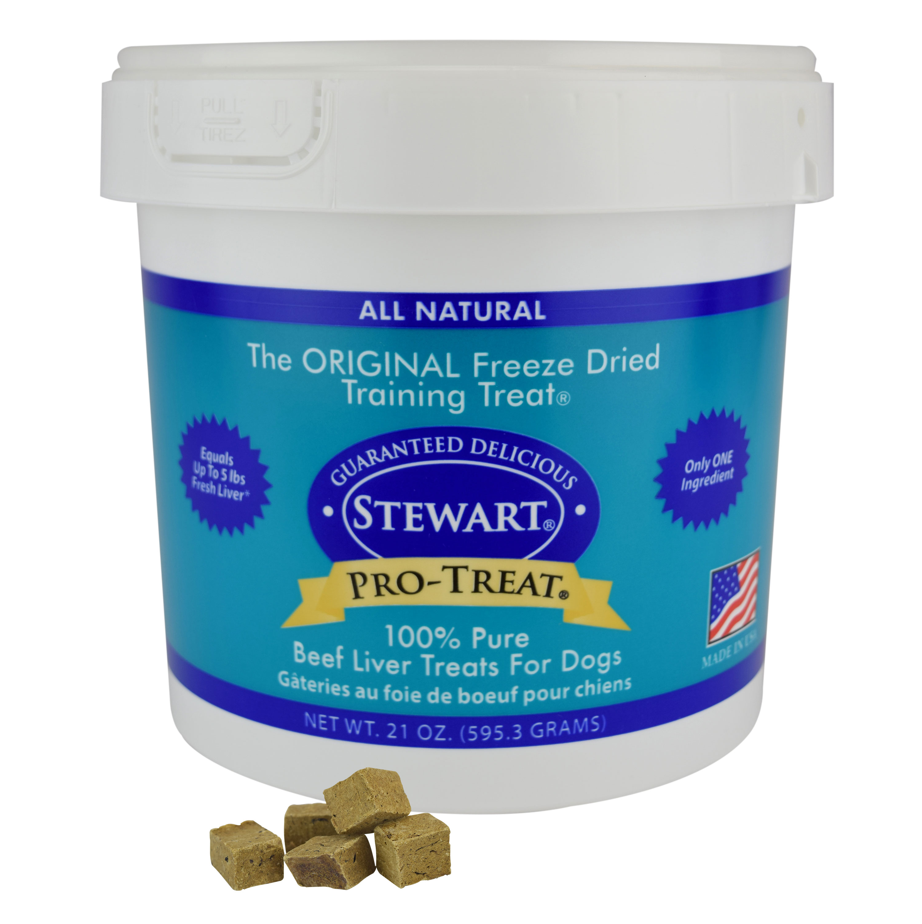 Stewart Freeze Dried Beef Liver by Pro-Treat, 21 oz. Tub