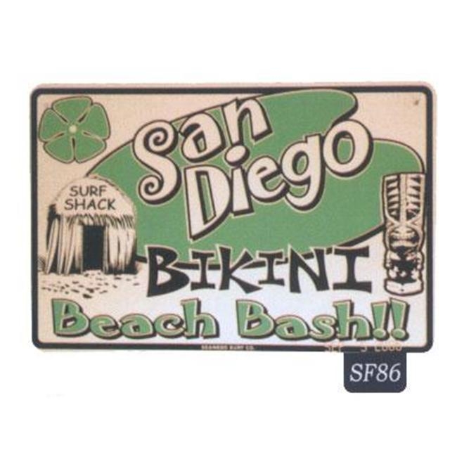 Seaweed Surf Co SF86 12X18 Aluminum Sign San Diego Beach Bash