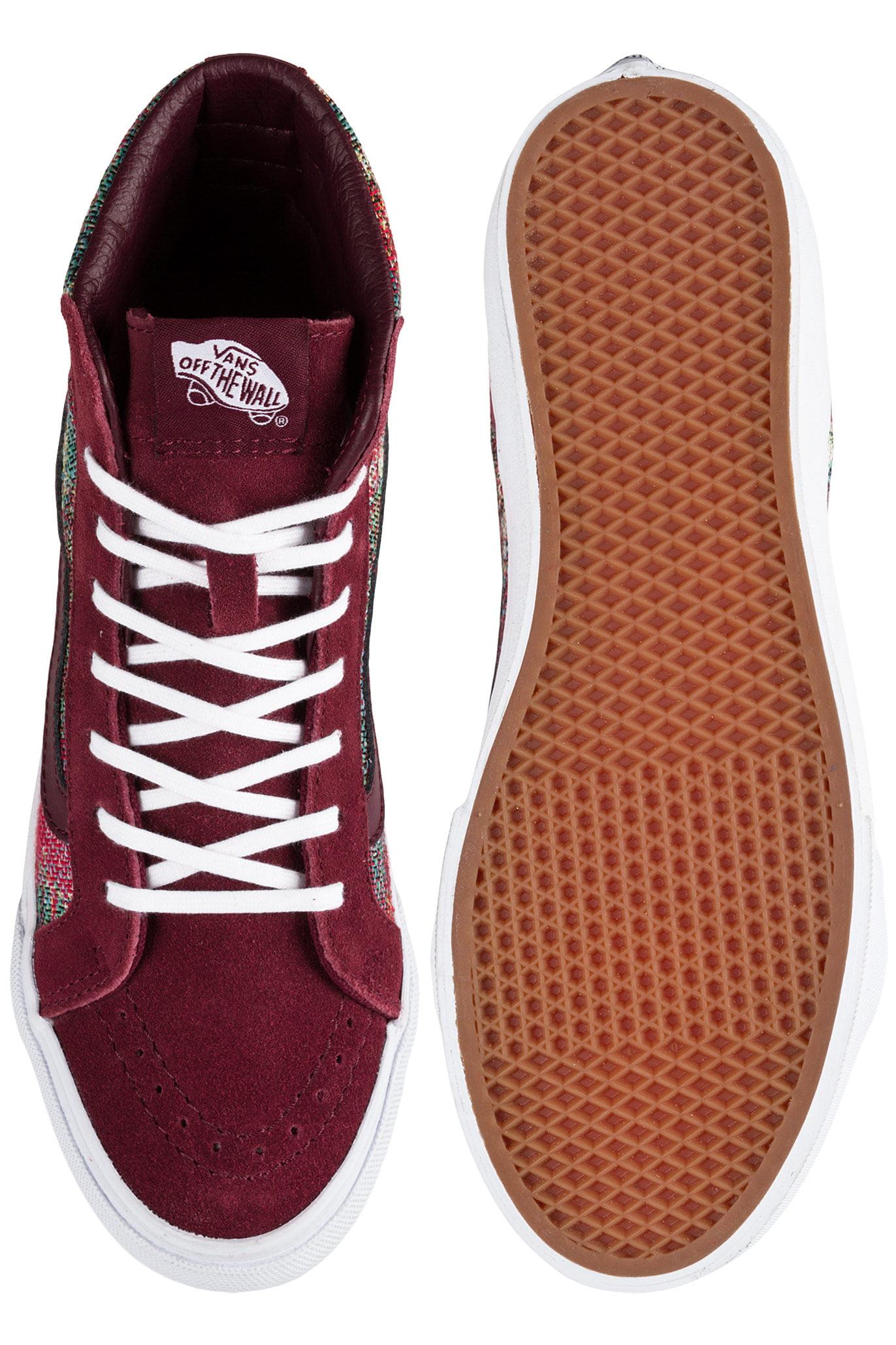 530206dac8 Vans - Vans Sk8-Hi Slim Italian Weave Port Royale Mid-Top Skateboarding Shoe  - 8.5M   7M - Walmart.com
