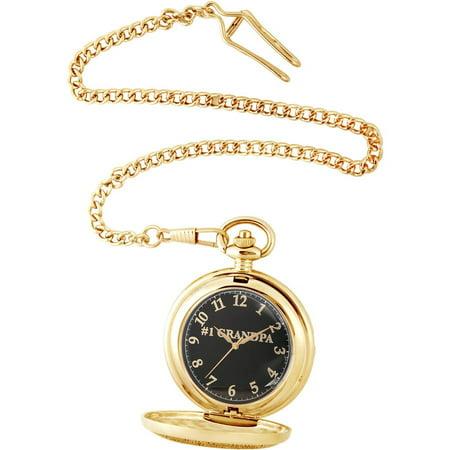 Men's Family Grandpa Pocket Watch, Gold