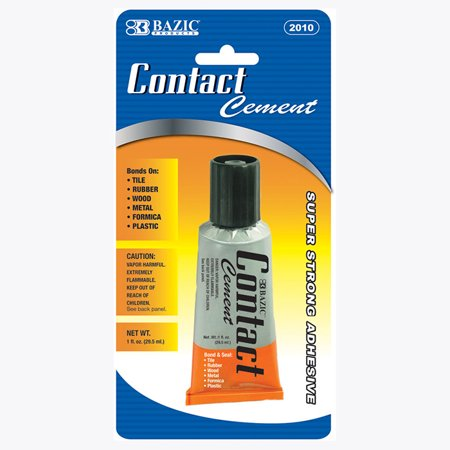 New 401658   1 Oz. (30Ml) Contact Cement Adhesive (24-Pack) Adhesive Cheap Wholesale Discount Bulk Hardware Adhesive Glues Wholesale  1 Oz. (30ml) Contact Cement Adhesive
