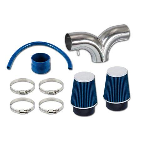 RL Concepts Blue Dual Short Ram Air Intake Kit + Filter 02-11 Dodge Ram 1500 3.7L V6 02-07 Ram 1500 4.7L V8 04-10 Dakota 3.7 V6 4.7L V8 Blue Dodge Intake System