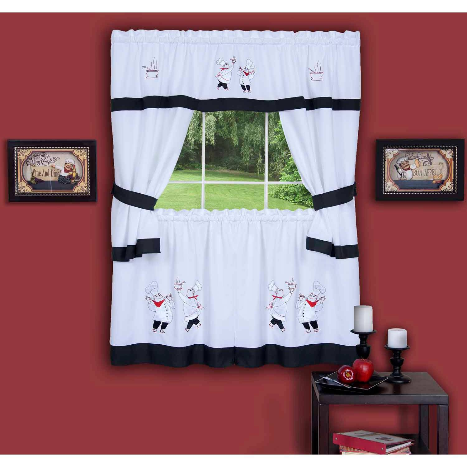 Triangle Shaped Country Kitchen Curtains e The