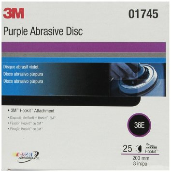 3M 1745 Imperial Hookit Disc 740I, (3m 01745) 8 in, 36E, 25 discs per box