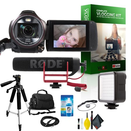 Panasonic HC-VX981K 4K Ultra HD Camcorder Complete Vlogging Equipment