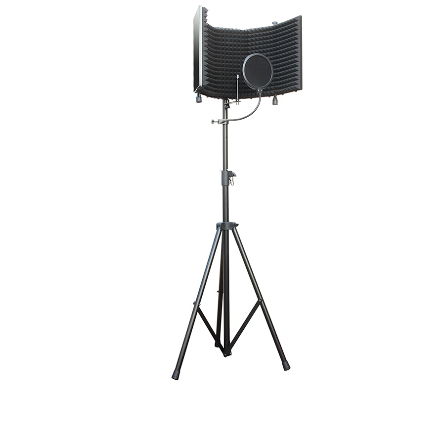 AxcessAbles SF-101Kit Vocal Recording Isolation booth with Stand by AxcessAbles