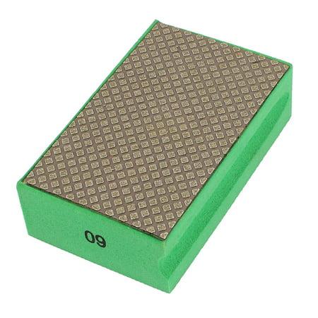 Fine Granite Glass Diamond Hand Polishing Pad Block Grit 60 Green