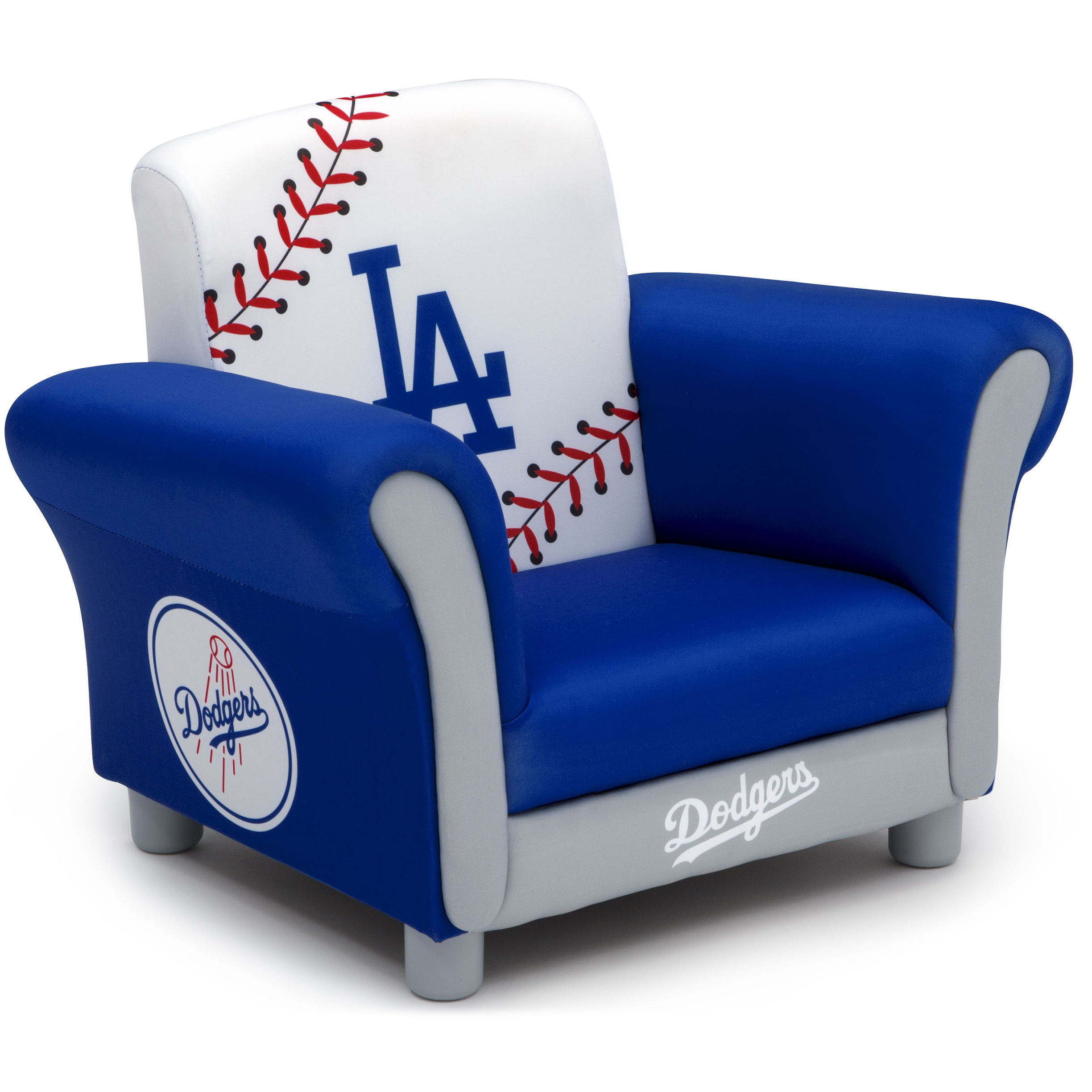 MLB Los Angeles Dodgers Kids Upholstered Chair by Delta Children