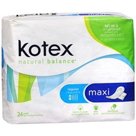U By Kotex Maxi Pads Regular Unscented 8 Pks Of 24