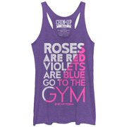 Chin Up Women's Valentine Roses Are Red Gym Poem Racerback Tank Top