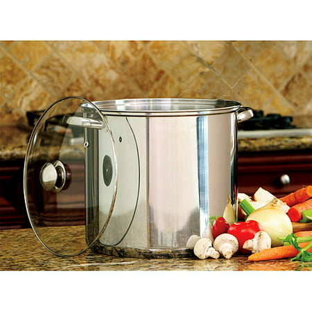 Cook Pro 16_Quart Stainless Steel Stock Pot With Glass