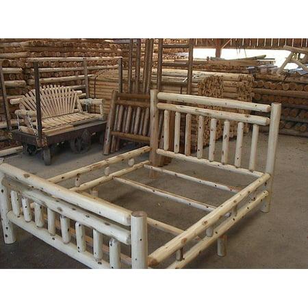 Red Cedar Log Beds - Furniture Barn USA™ White Cedar Log Bed