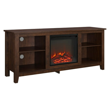 Walker Edison 58-in. Wood Fireplace Media TV Stand Console