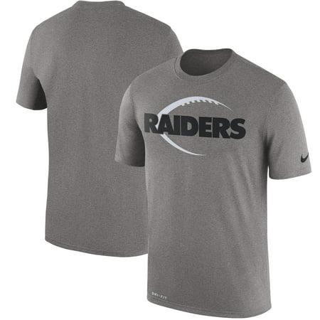 factory price 23de5 fb918 Oakland Raiders Nike Legend Icon Logo Performance T-Shirt - Heather Gray - M
