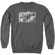 Arkham City Greetings From Arkham Mens Crewneck Sweatshirt
