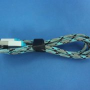 Refurbished 360 Electrical 360400 QuickCharge Lightning to USB Braided Charging Cable, 3'/0.9m, Blue