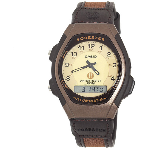 Casio Men's Ana-Digi Forester Illuminator Sport Watch, Brown
