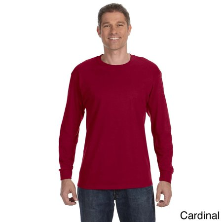 6c1a471878e JERZEES - Jerzees Men s 50 50 Heavyweight Blend Long Sleeve T-shirt -  Walmart.com