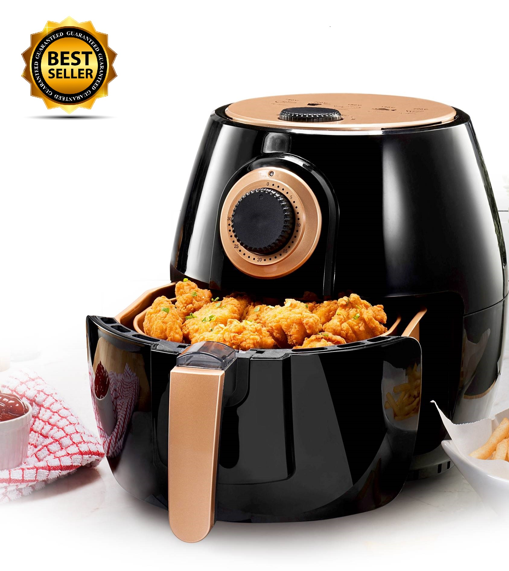 Gotham Steel Air Fryer 4 Quart with Included Presets, Temperature Control and Timer – As Seen on TV!