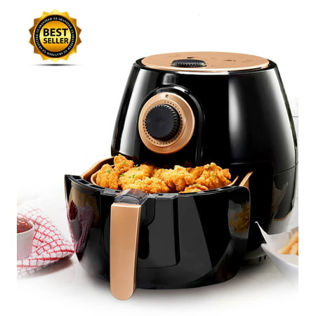 Gotham Steel Air Fryer 4 Quart with Included Presets, Temperature Control and Timer – As Seen on