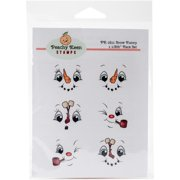 Peachy Keen Stamps Clear Face Assortment 6/pkg-snow Funny