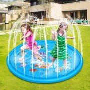 Mingyang 39 inch Inflatable Splash Sprinkler Pad for Kids Toddlers Baby Pool Outdoor Water Play Mat Toys Baby Infant Wading Swimming Pool