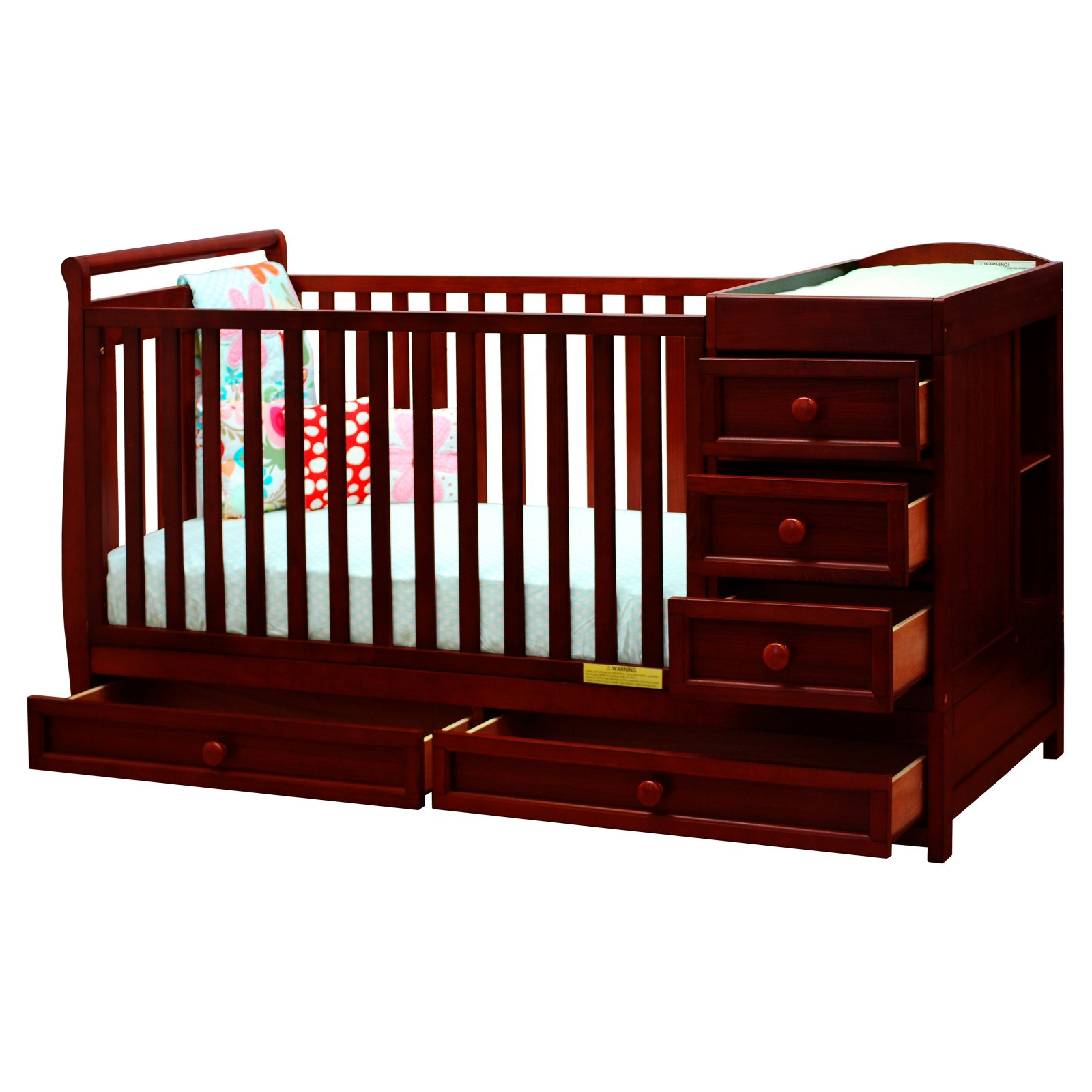 AFG Baby Furniture Daphne 2-in-1 Convertible Crib Cherry