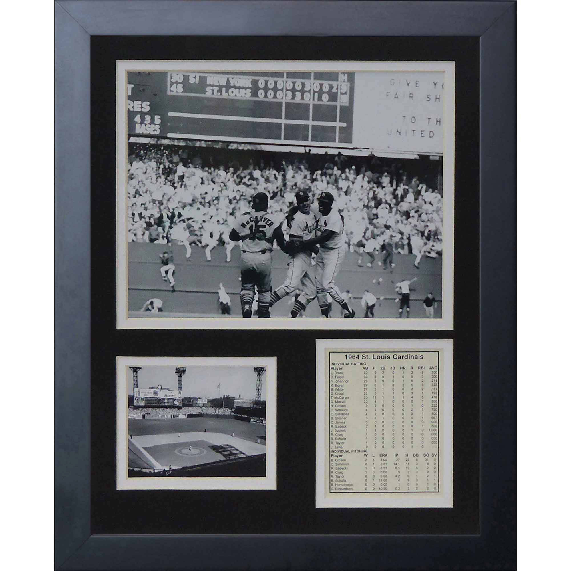 "Legends Never Die 1964 St. Louis Cardinals Celebration Framed Photo Collage, 11"" x 14"""