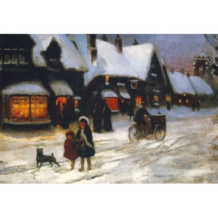 Christmas Stretched Canvas - George Sheridan Knowles (24 x 36)