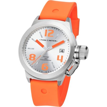 WATCH  TOM CARTER STAINLESS STEEL SILVER ORANGE MAN  TOM102 - image 1 of 1