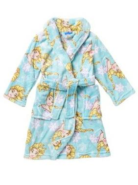 Girls or Toddlers Frozen Sisters Elsa Snowflake Robe Bathrobe Pajamas (2t) White/Blue