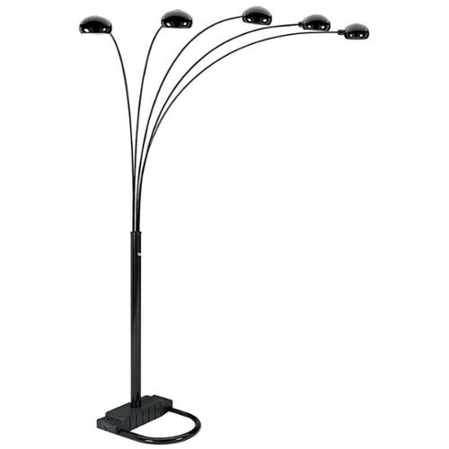 5-Arch Metal Floor Lamp w Round Dome Topped Lights