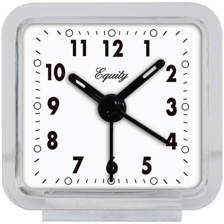 Equity By La Crosse 21038 Clear Quartz Alarm Clock
