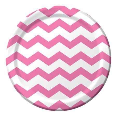 Party Creations Chevron & Polka Dots Dinner Plate, 9