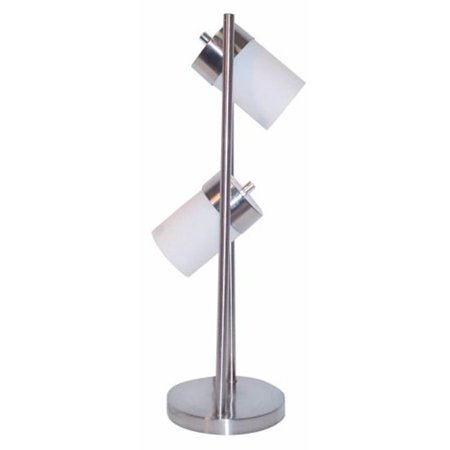Ore International 3031TW 2-Light Adjustable Table Lamp - White - image 1 of 1