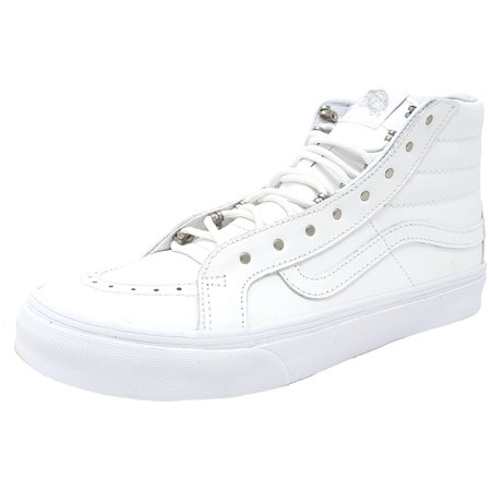 5ae345645d Vans - Vans Sk8-Hi Slim Rivets Antique Silver   True White High-Top Leather  Skateboarding Shoe - 9.5M 8M - Walmart.com