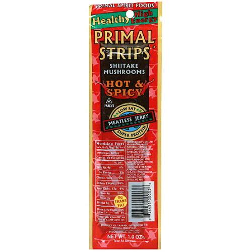 Primal Strips Jerky Meatless Shitake, 1 oz. (Pack of 24)