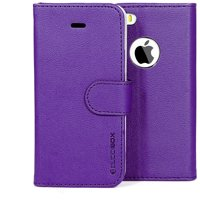 BUDDIBOX iPhone 5S / 5 Plus Case Premium PU Durable Leather Wallet Folio Protective Cover Case for Apple iPhone 5 / 5S