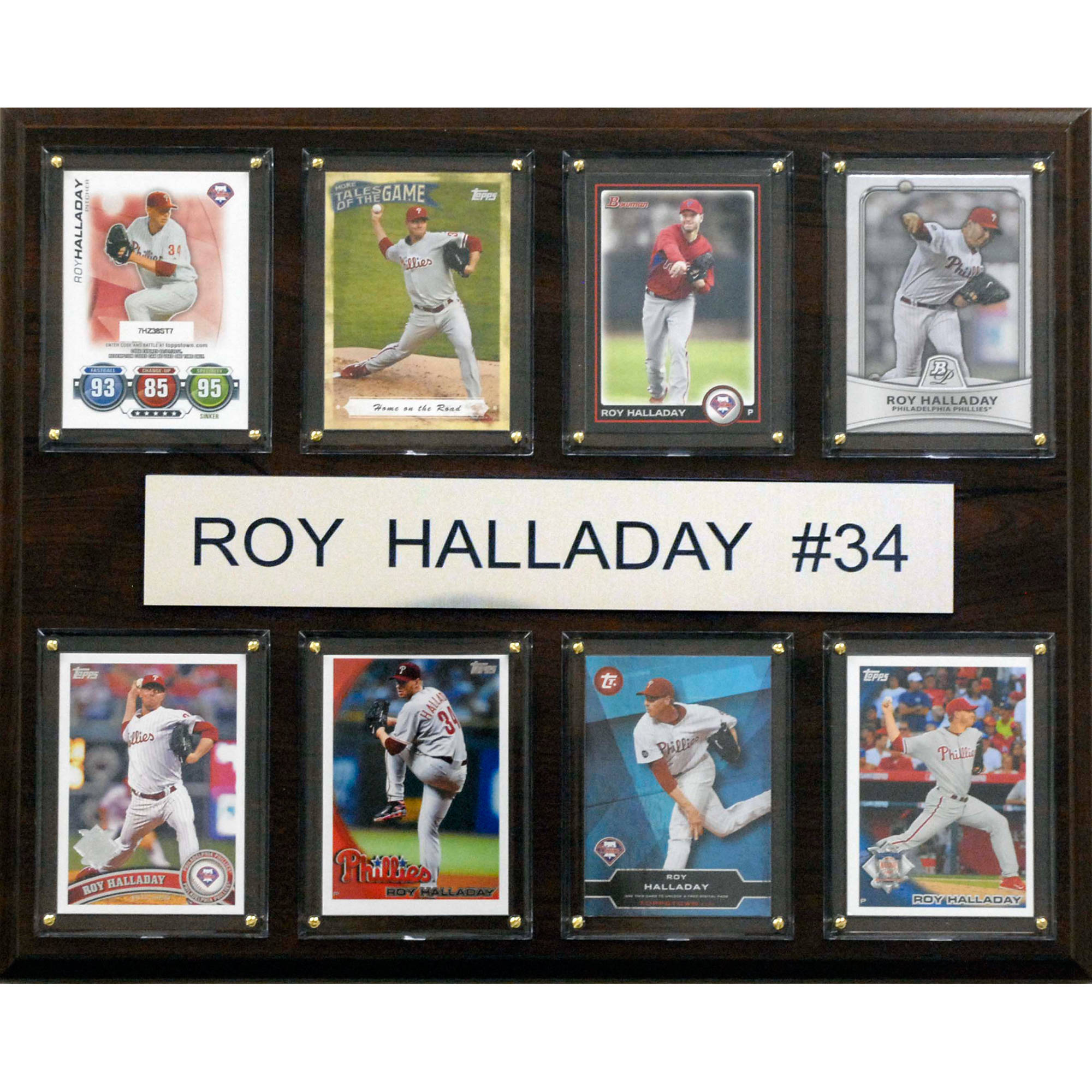C&I Collectables MLB 12x15 Roy Halladay Philadelphia Phillies 8-Card Plaque