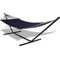 Universal Hammock Stand With Quilted Olefin Hammock