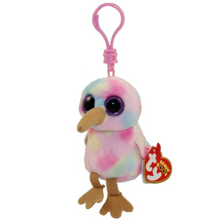 TY Beanie Boos - KIWI the Bird (Glitter Eyes) (Plastic Key Clip)