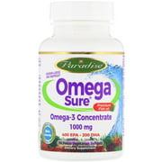 Paradise Herbs  Omega Sure  Omega-3 Premium Fish Oil  1 000 mg  30 Pesco Vegetarian Softgels