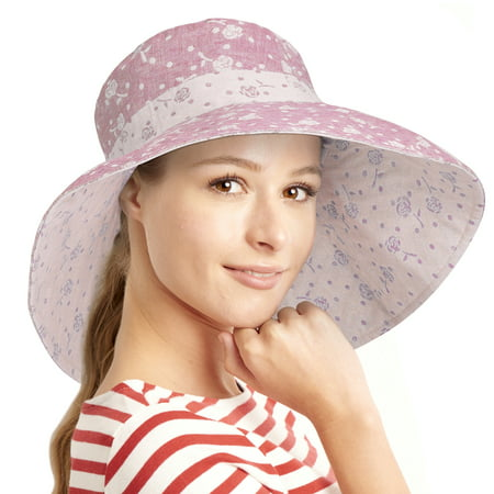 db2f71afcff3e Terra - Womens Sun Hats Terra Summer Reversible UPF 50+ Beach Hat Foldable Floppy  Wide Brim Cap - Walmart.com
