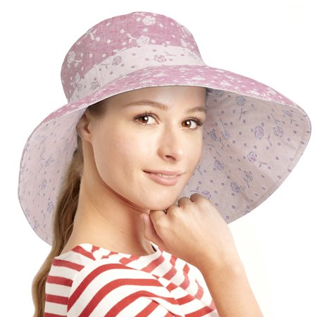 9db346c277949 Terra - Womens Sun Hats Terra Summer Reversible UPF 50+ Beach Hat Foldable  Floppy Wide Brim Cap - Walmart.com