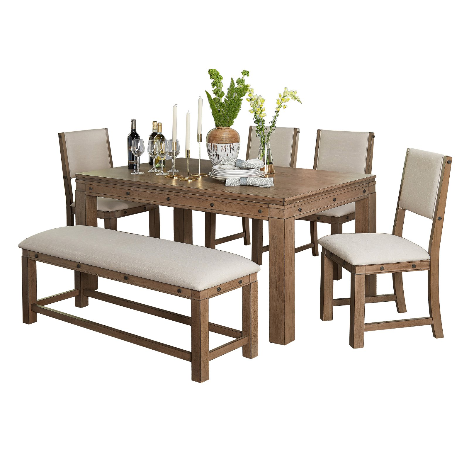 Target Marketing Systems Kinley 6 Piece Dining Table Set